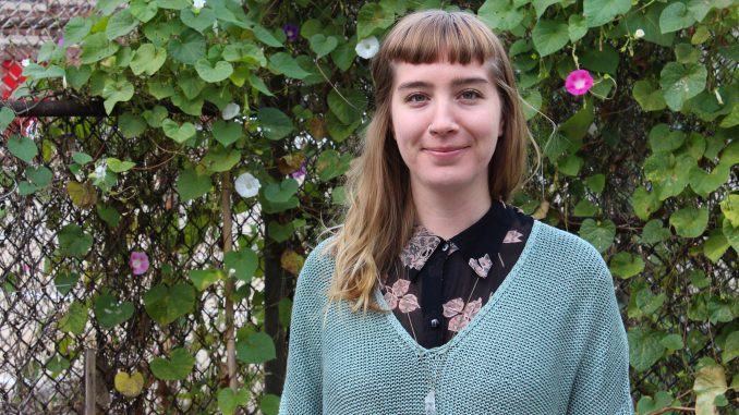 Elise Hanks, owner of Terra Luna Herb Garden, grows and produces herbs in her Kensington garden.   Matt McGraw TTN