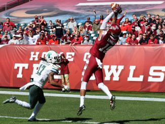 Robby Anderson catches a touchdown in Temple's 49-10 win over Tulane on Saturday. | Geneva Heffernan TTN