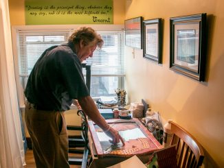 John Creveling started painting after a Parkinson's diagnosis in 2009. | JD Mousley TTN
