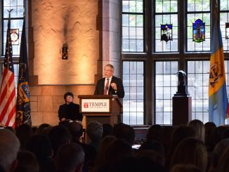 President Neil Theobald speaks at the State of the University address in Mitten Hall Thursday afternoon. | Abbie Lee TTN