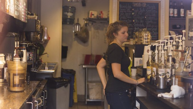 Saxbys on Main Campus received more than 400 fewer orders Sept. 25 due to the papal visit. | Margo Reed TTN