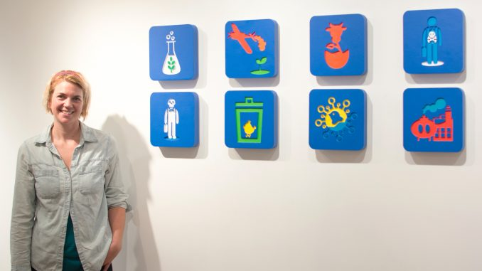 "Abby Elizabeth Schmidt's set of icons is displayed in ""Subsidized Starvation."" 