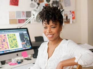 Alumna Andrea Pippins created an adult coloring book about the diversity of women's hair. | COURTESY Andrea Pippins