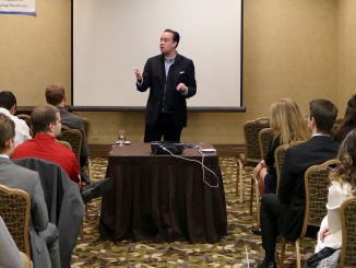 Republican candidate for Philadelphia City Council at-large Terry Tracy speaks to students in attendance at the Pennsylvania Federation of College Republicans Fall Convention Oct. 23. | Evan Easterling TTN