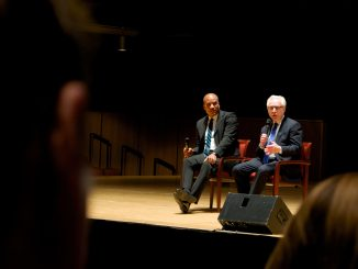 Wolf Blitzer (right), invited his friend Paxton Baker to answer questions about the show-business industry Oct. 29 at TPAC. | Khanya Brann TTN